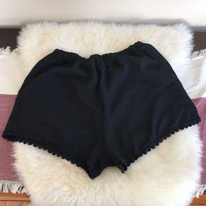 Brandy Melville Lace Trip Romper Shorts